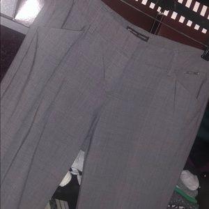 Glen plaid Gray trouser